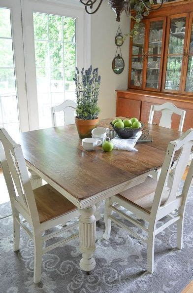 chalk paint s antique dining table and chairs