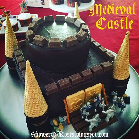 Shower Of Roses Medieval Castle Cake & Brave Knights Cupcakes