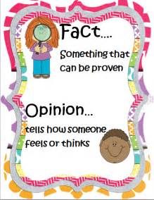 Fact and Opinion Anchor Chart