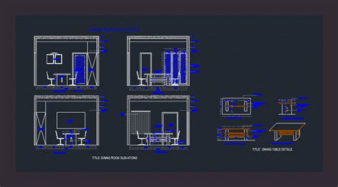 dining room elevation  autocad  cad