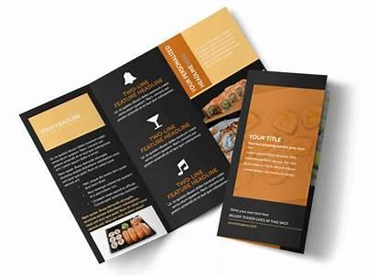 Brochure Sushi Cool Templates Template Tri Fold
