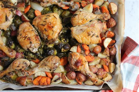 Satisfying Meals  One Pan Roast Chicken With Root