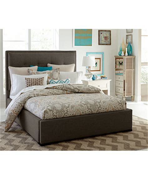 casey upholstered headboard bed rails furniture macy s