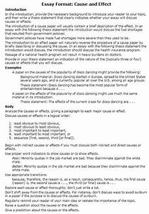 How To Write Cause Effect Essay How To Write A Cause And Effect Essay Examples At Kingessays