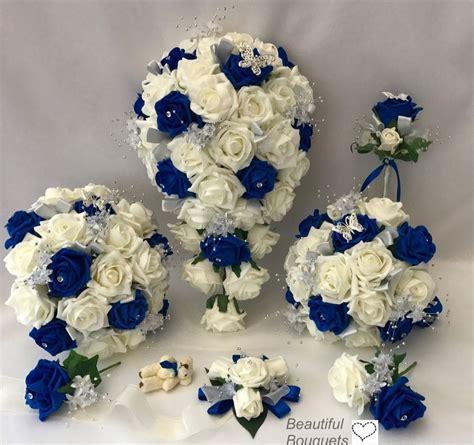 Wedding Flowers Ivory Rose Crystal Bouquet Bride