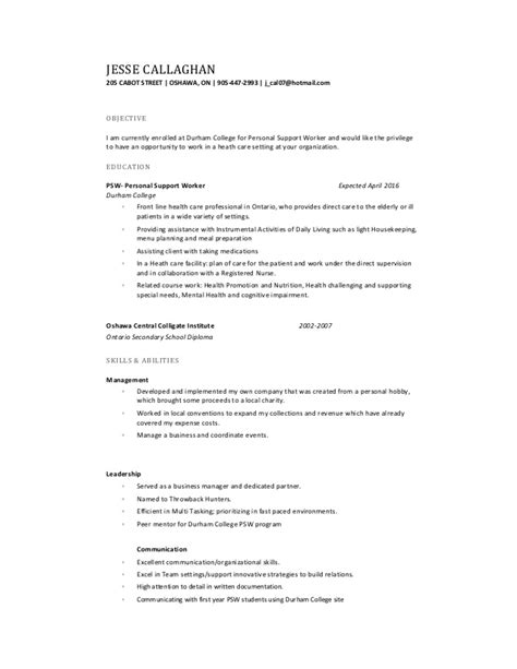 callaghan resume psw