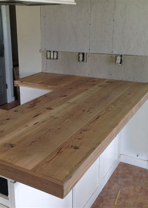 Diy Reclaimed Wood Countertop  Projects  Diy Countertops
