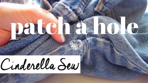 How To Cover A Hole In Pants by Patch A Hole In Jeans Easy Hand Sewing Tutorial Repair