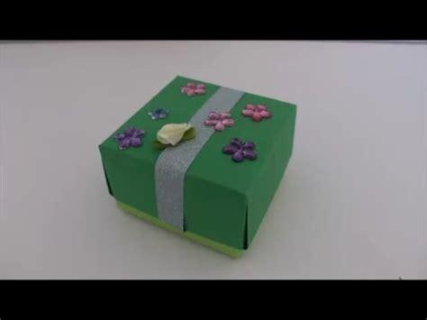 diy last minute geschenk schachtel geschenkbox falten aus papier ohne kleben basteln