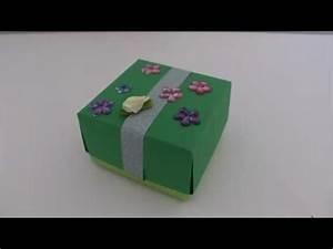 Geschenkbox Selber Basteln : diy last minute geschenk schachtel geschenkbox falten aus papier ohne kleben basteln youtube ~ Watch28wear.com Haus und Dekorationen