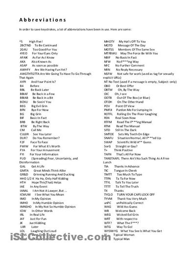 18 Best Images Of Abbreviation Worksheets For Students  Common Abbreviations Worksheet, State