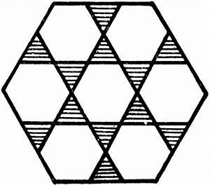 Large Hexagon Design Consisting Of 7 Hexagons