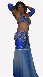 belly dancing costumes: Blue Navy belly dance costume 006