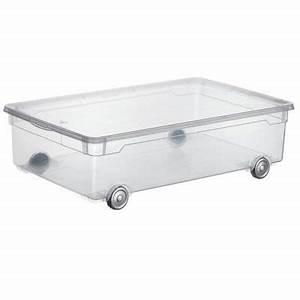 Rangement Dessous De Lit : rangement dessous de lit en plastique kristal 30l transparent castorama ~ Melissatoandfro.com Idées de Décoration