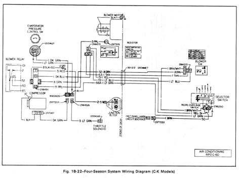 air conditioning four season system wiring diagram c k