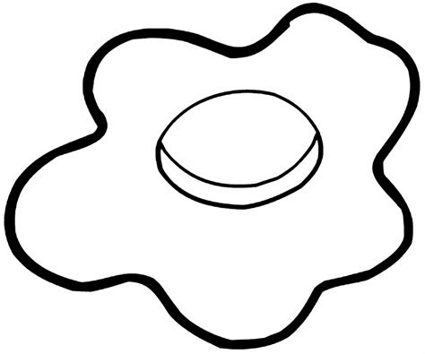 breakfast 2 fried eggs coloring coloring pages