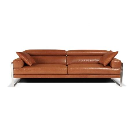 calia italia romeo leather sofa mid century modern