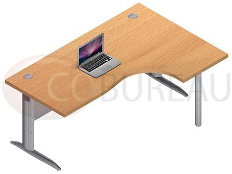 mobilier bureau pro bureau plateau compact 180 cm pro métal pieds en l