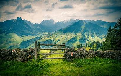 Desktop Mountains Landscape Background Spring Sky Mountainous