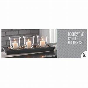 hosley39s 16quot long decorative candle holder set holders 3 With kitchen cabinets lowes with voltive candle holders