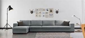 Canapé D Angle Gauche : canap d 39 angle en tissu gris a prix usine ~ Teatrodelosmanantiales.com Idées de Décoration