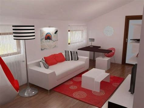 Red, Black And White For Contemporary Bedroom Design