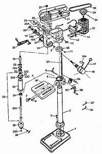 Craftsman Model 351225250 Drill Press Genuine Parts