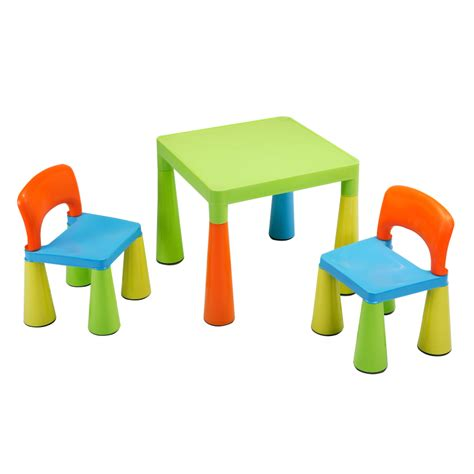 children s multi coloured table chairs set