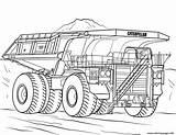 Camion Coloring Truck Caterpillar Mining Printable Colorear Dessin Dibujos Coloriage Imprimir Colorare Scania Excavator Kleurplaat V8 Monster Template Disegni Disegno sketch template