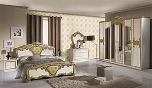 Schlafzimmer elisa in weiss gold 6 t rig luxus for Schlafzimmer weiß gold