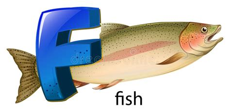 A Letter F For Fish Stock Vector. Illustration Of Chordata