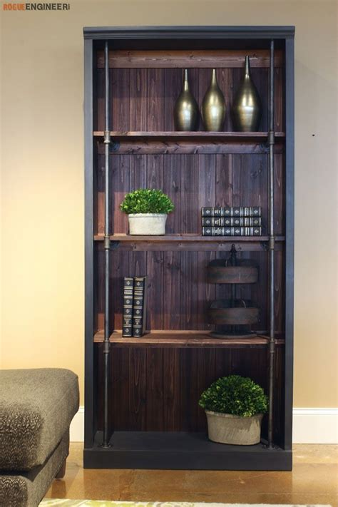 industrial bookcase diy furniture industrial home