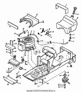 Troy Bilt 13065 14hp Hydro Suburban Tractor  S  N 130650100101  Parts Diagram For Engine Assembly