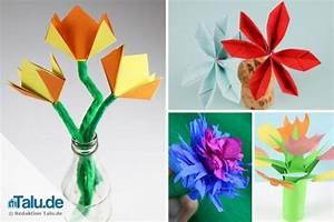 Papierblumen Selber Basteln : papierblumen basteln mit kindern 4 ideen f r farbenfrohe blumen ~ Orissabook.com Haus und Dekorationen