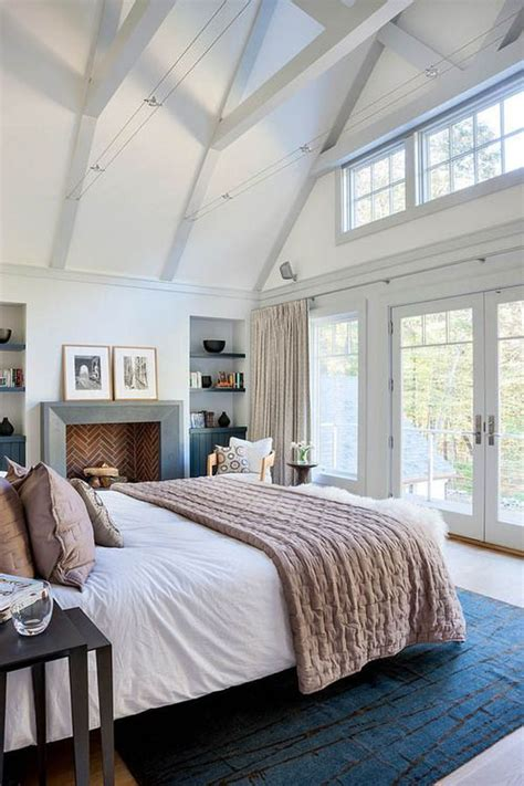 Beach Themed Bathroom Decor Ideas by Bedroom With Vaulted Ceilings And Juliet Balcony