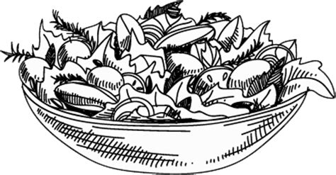 salad clipart black and white monkswood