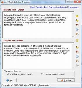 english to italian software free download With english to italian document translation