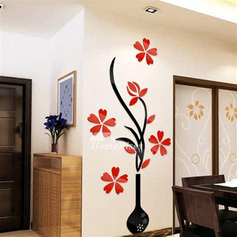 wall decor adhesive flower wall stickers acrylic 3d self adhesive home decor