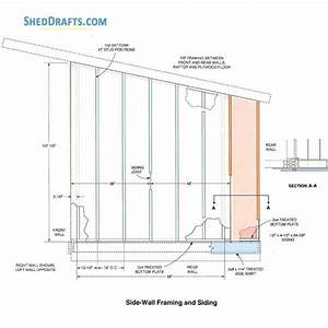 12 U00d712 Lean To Storage Shed Plans Blueprints To Set Up Wooden Shed
