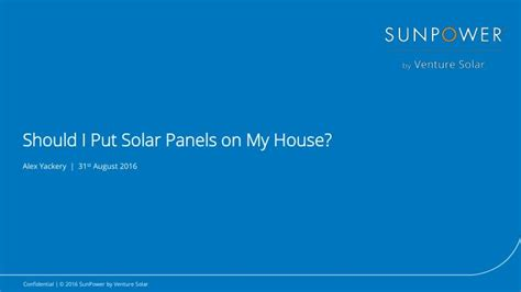 Should I Put A Picture On My Acting Resume by Ppt Is My House A Candidate For Solar Powerpoint