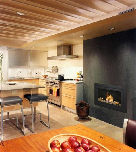 Kitchen Fireplace Design Ideas by 20 Kitchen Ideas With Fireplaces