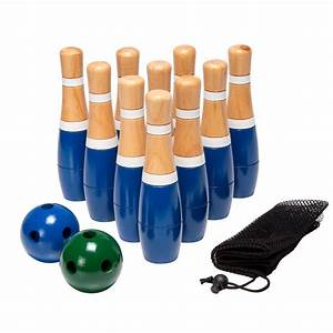Trademark 8 in Wooden Lawn Bowling Set-80-LB8 - The Home