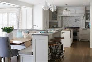 built in kitchen island kitchen island with built in l shaped dining banquette transitional kitchen