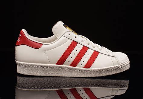 adidas Originals Superstar Deluxe 80s   White   Red