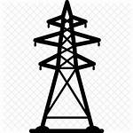 Electricity Icon Electrical Tower Energy Line Grid