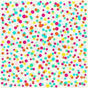 Background with bright colorful polka dots for kids ...