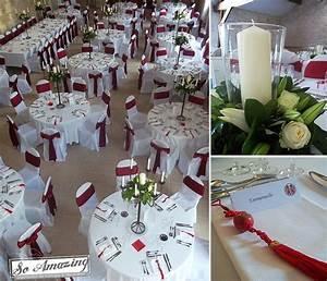 Décoration Mariage Rouge Et Blanc : d coration pur un mariage blanc et rouge bordeaux ~ Melissatoandfro.com Idées de Décoration