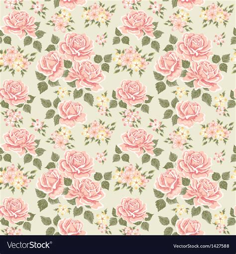 pink vintage rose pattern royalty  vector image