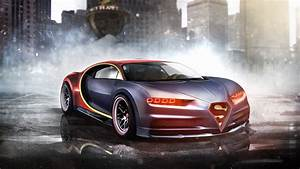 Wallpaper Bugatti Chiron, Superman, Supercar, Render, HD