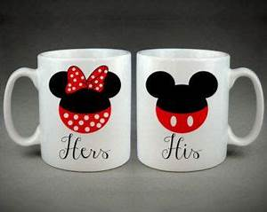 Minnie Mouse Tasse : logo t te de mickey minnie mouse tasses coupl s avec une photo d 39 un design int ressant ~ Whattoseeinmadrid.com Haus und Dekorationen